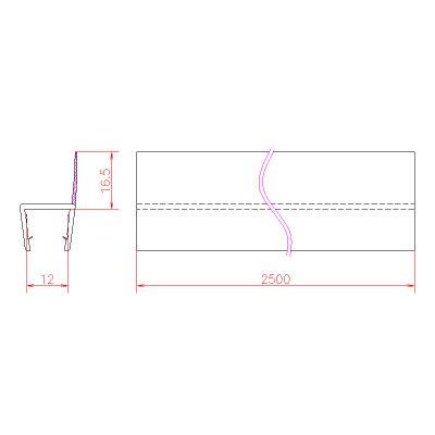 画像3: エッジシール OT-H620N/ガラス厚12mm、10mm、8mm用/長さ:2.5m×2本、2.2m×2本