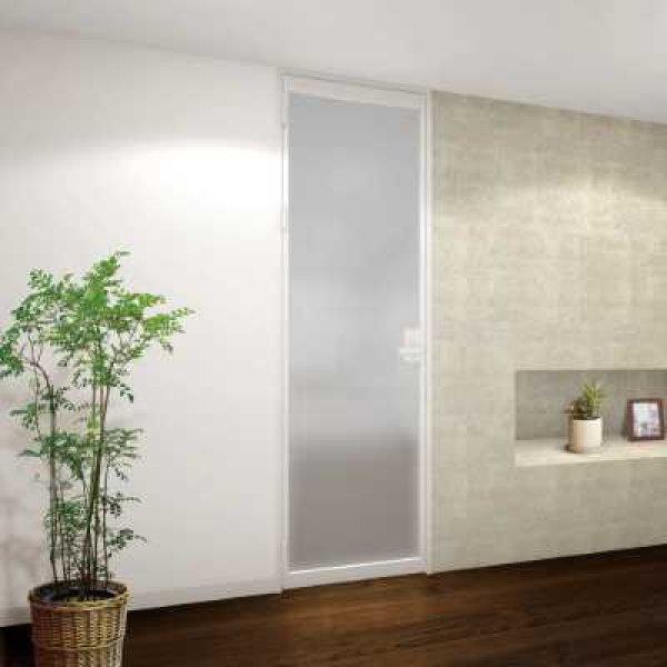 画像1: アルミ+ガラスドア【開き戸】 (1)