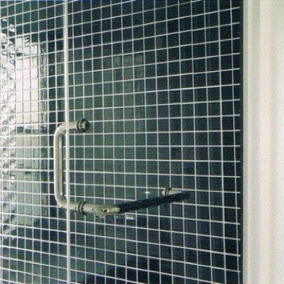 画像1: 【特別企画第2弾】L型ハンドル付き浴室ガラスドアセット