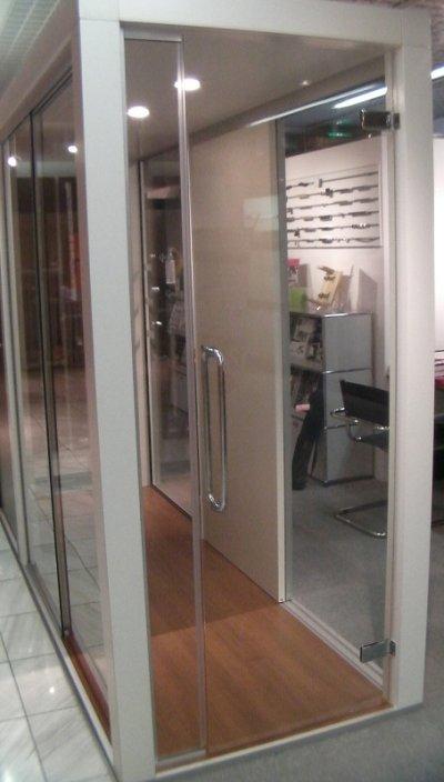 画像1: 真鍮ガラスドア用ヒンジ(丁番) 2個セット