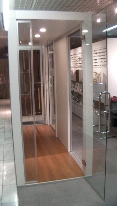 画像3: 真鍮ガラスドア用ヒンジ(丁番) 2個セット
