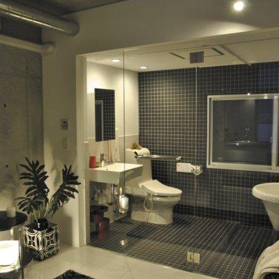 画像1: 浴室のガラスドアセット