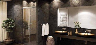 画像1: 浴室・シャワー室ガラスドア(壁取付タイプ)