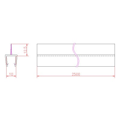 画像3: エッジシール OT-H610N/ガラス厚10mm、8mm用/長さ:2.5m×2本