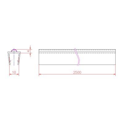 画像3: エッジシール OT-H642N-1/2 ガラス厚10mm、8mm用/長さ:2.5m×2本
