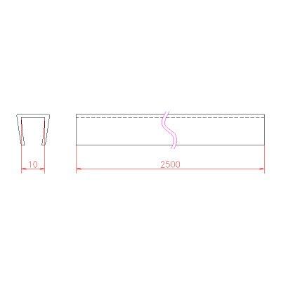 画像3: エッジシール OT-H660N/ガラス厚10mm、8mm用/長さ:2.5m×2本