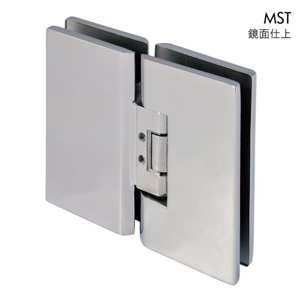 画像1: ステンレス重量ガラス用調整ヒンジ/ガラス板取付タイプ (1)