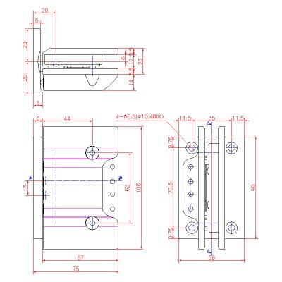 画像2: ステンレス重量ガラス用調整ヒンジ(壁取付タイプ・ソフトアブソーバー付)
