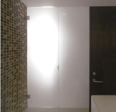 画像2: ステンレスガラス用調整ヒンジ/L型・壁取付タイプ