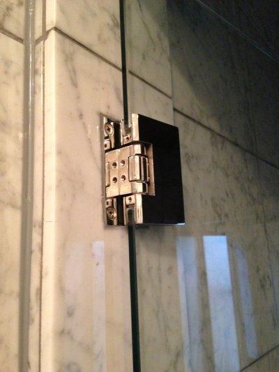 画像2: ステンレスガラス用調整ヒンジ/T型・壁取付タイプ