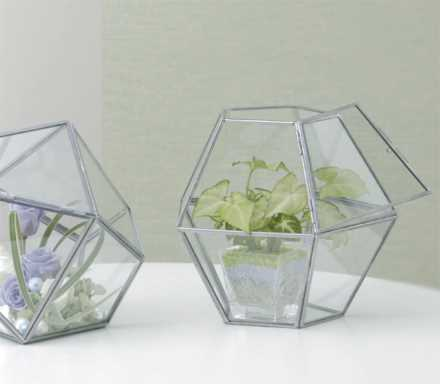 ガラスの花瓶ガラスハウスドームタイプ