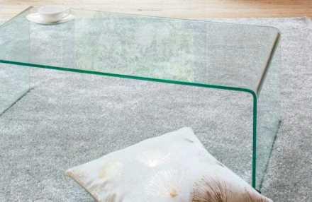 曲げガラステーブル