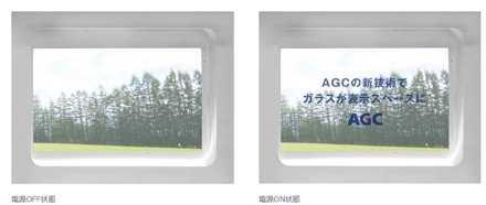 窓ガラスに透明ディスプレイを組込む技術