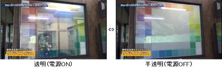 「瞬間調光ガラス」、新カタログ