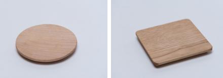 「日本の木」でできたコースター