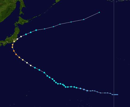 最大風速40m/sの「強い」台風