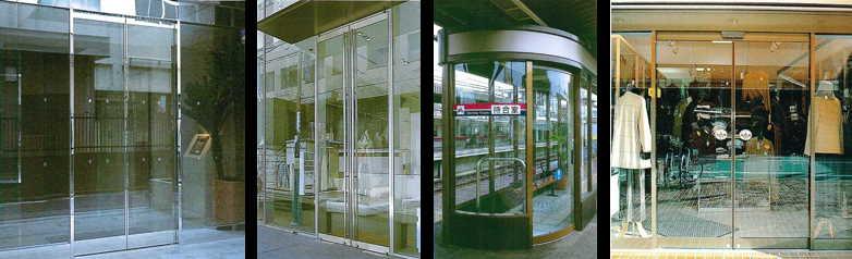 「スリム自動スライドガラスドア」