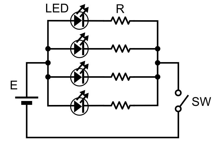 「LED照明」並列方式