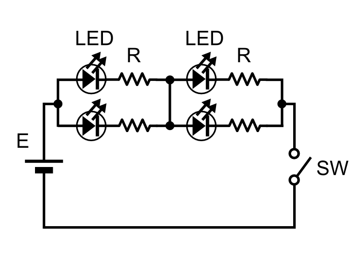 「LED照明」直並列方式