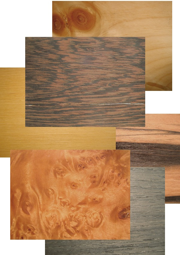 さまざまな木目の突板
