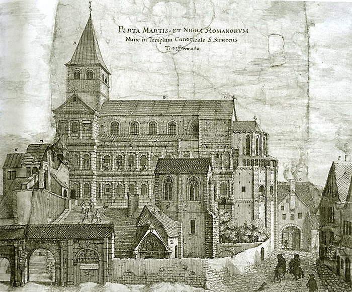 聖シメオン教会に改装されたポルタ・ニグラ(1670年)