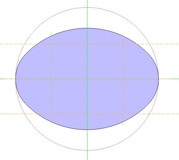 二つの対称軸のあるオーバル