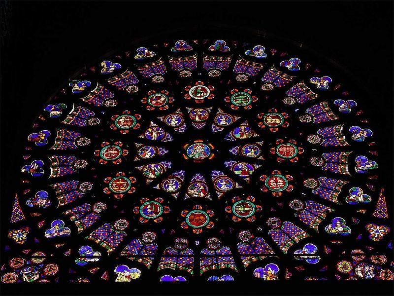 サン・ドニ修道院の北翼廊のバラ窓