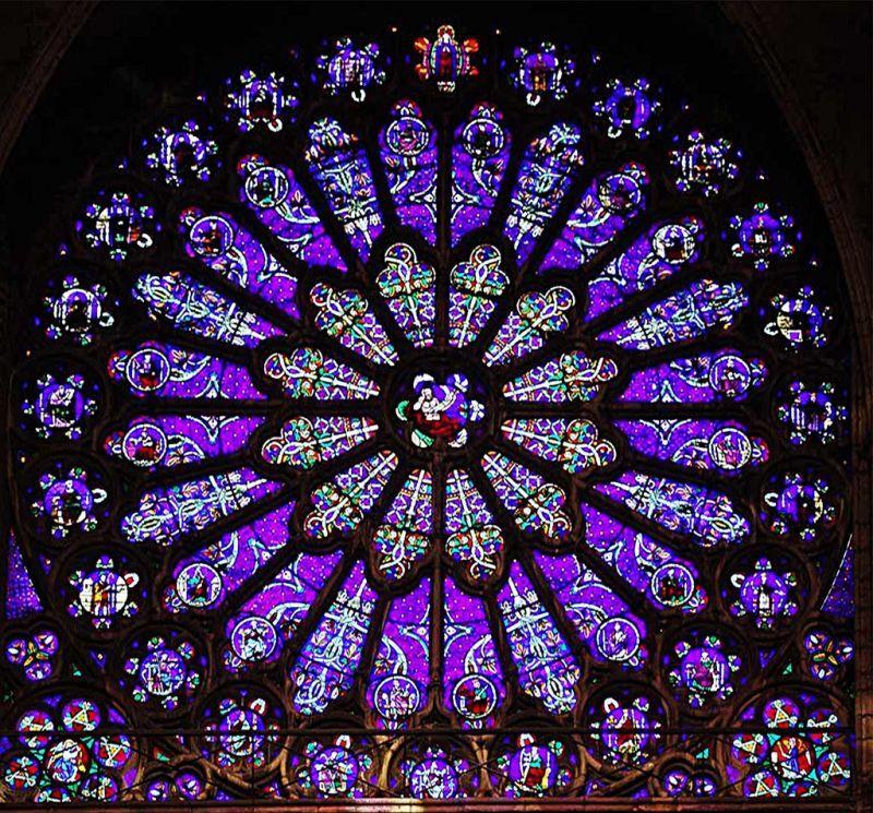 サン・ドニ修道院南翼廊のバラ窓