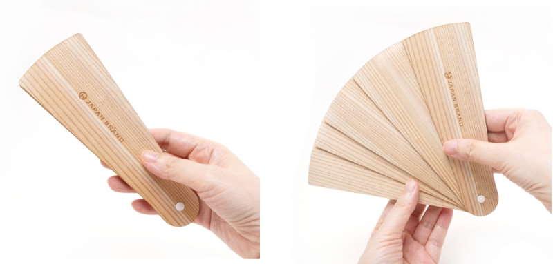 杉を使用した扇子