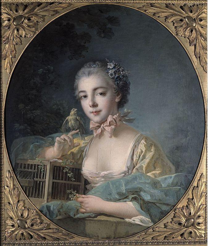 楕円形の額縁。フランソワ・ブーシェ『ボードワン夫人』