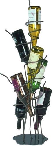 ロートアイアン製のワインラック
