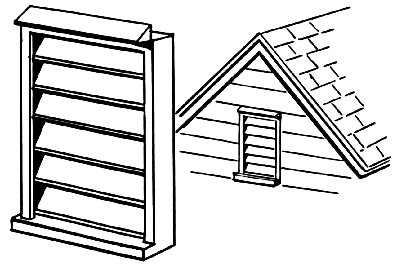 建築物でのルーバーの例