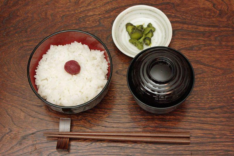 日本食での配膳例