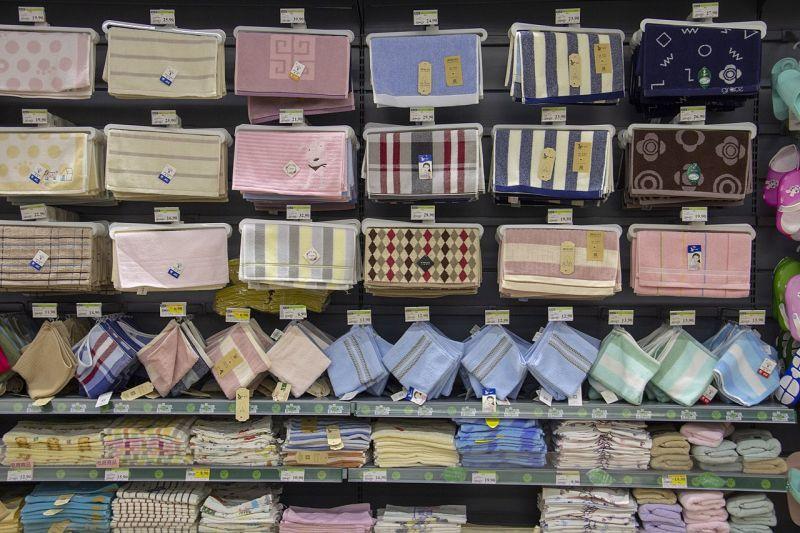 様々な模様のタオル