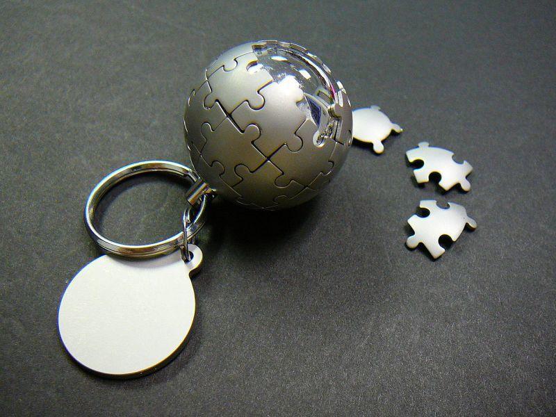 ウィキペディア・グローブを模したキーホルダー