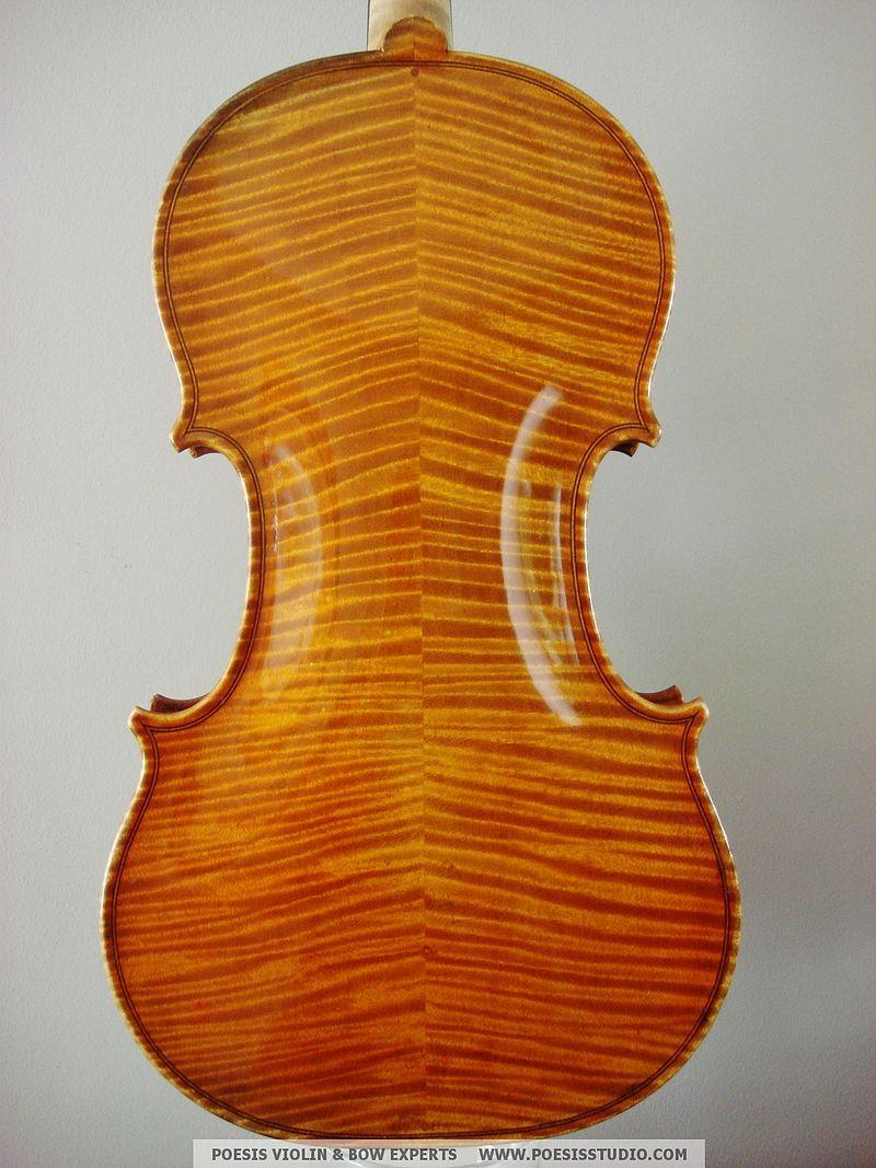 ヴァイオリンの裏面(フィドルバック)