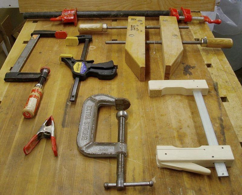 ウッドクランプ、バネクランプ、C型クランプ、カムクランプ
