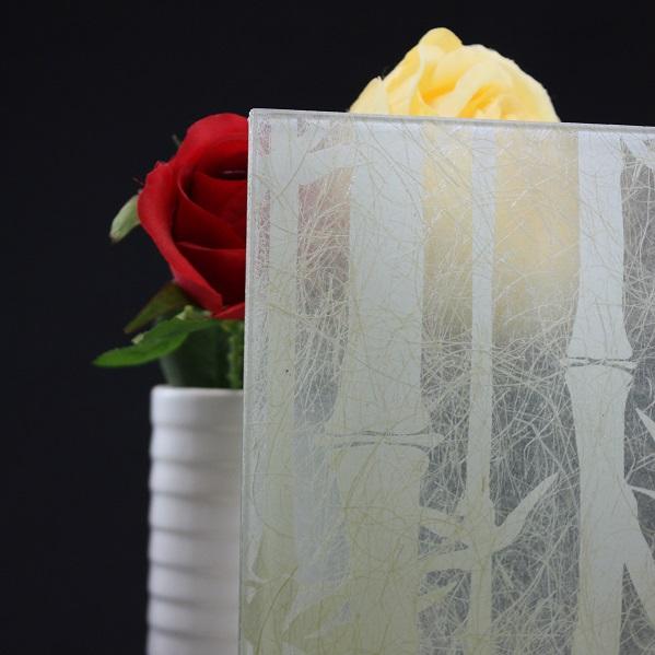 「竹」模様の和紙合わせガラス