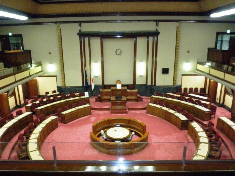 名古屋市議会の会堂
