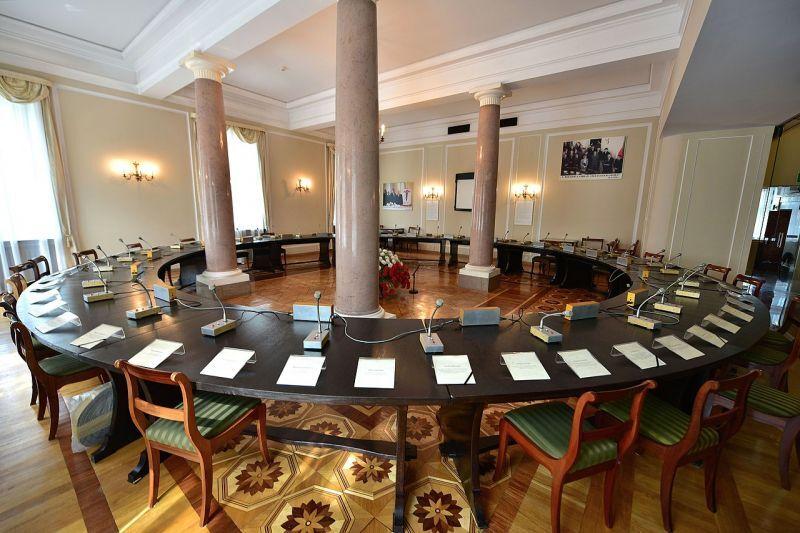 ポーランド円卓会議が開かれた閣僚評議会本部の部屋