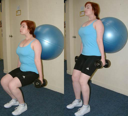 バランスボールを使ったトレーニングの例