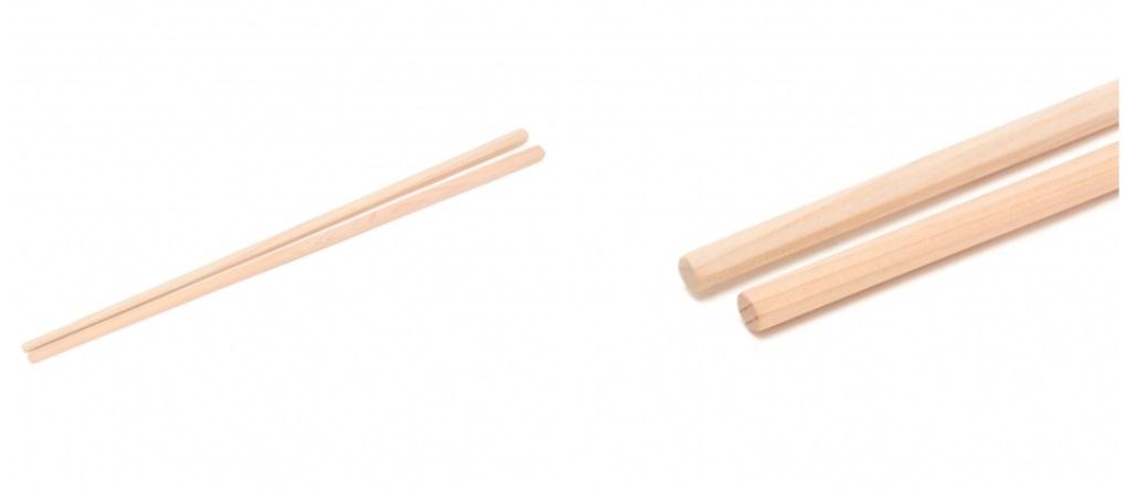 国産ヒノキを使った菜箸