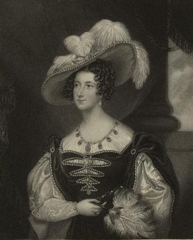 1820年頃のアンナ・ラッセル(ベッドフォード公爵夫人)