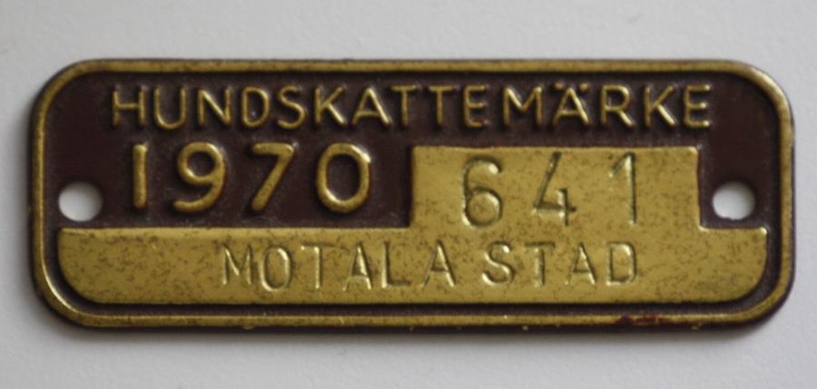 スウェーデンで発行された犬用の鑑札