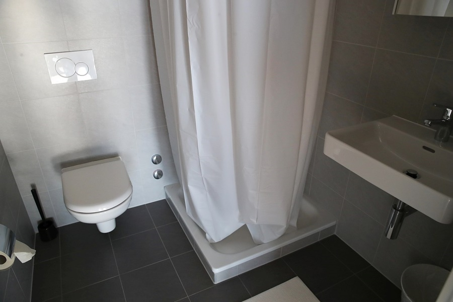 オリンピック村の浴室