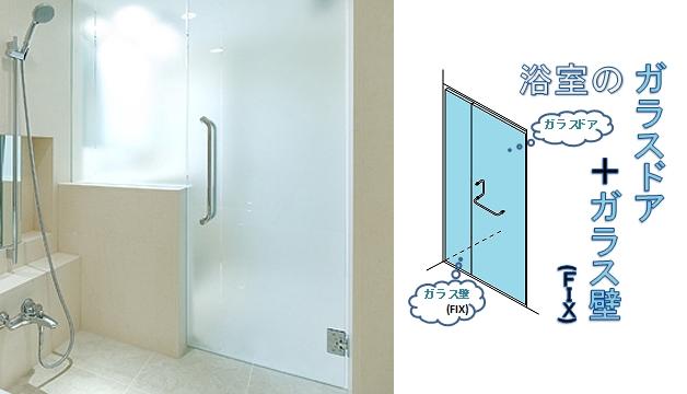「浴室ガラスドアセット」