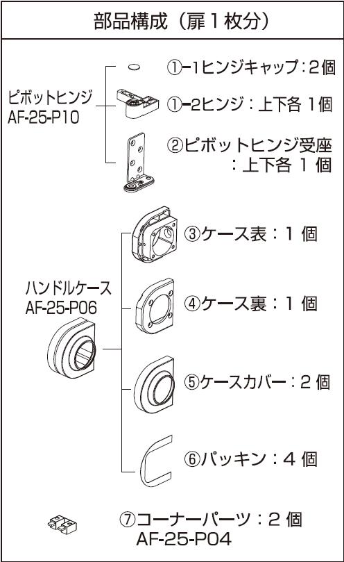 AF-25D説明書部品(扉1枚分)