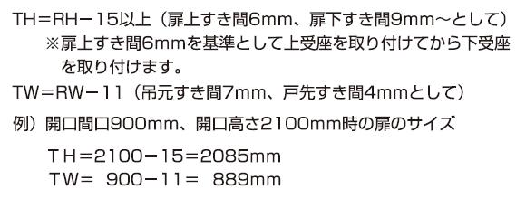 AF-25D説明書扉の寸法