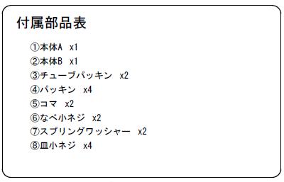 バーハンドルOT-C640付属部品表