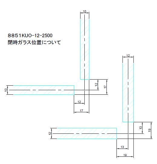 8851KUO-12-2500閉時ガラス位置図面</font>